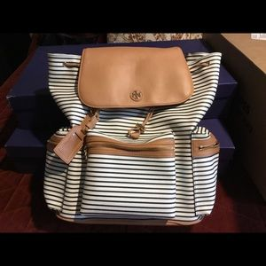 Tory Burch Viva Striped Backpack Pocketbook